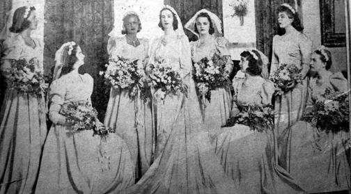 MargaretLangSpencer_BridalPhotoFromNewspaper