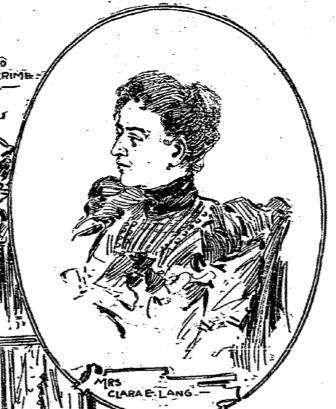 Mrs. Clara E. Lang-crop